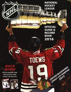 NHL OFFICIAL GUIDE & RECORD BOOK 2016 2016 NHL OFFICIAL GUIDE & RECORD BOOK ROMANS ET LIVRES