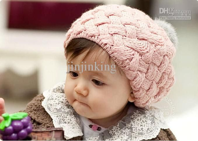 Wholesale beautiful knitting caps, children's knitted baby hats,beret,cake cap, Free shipping, $5.93/Piece | DHgate Mobile