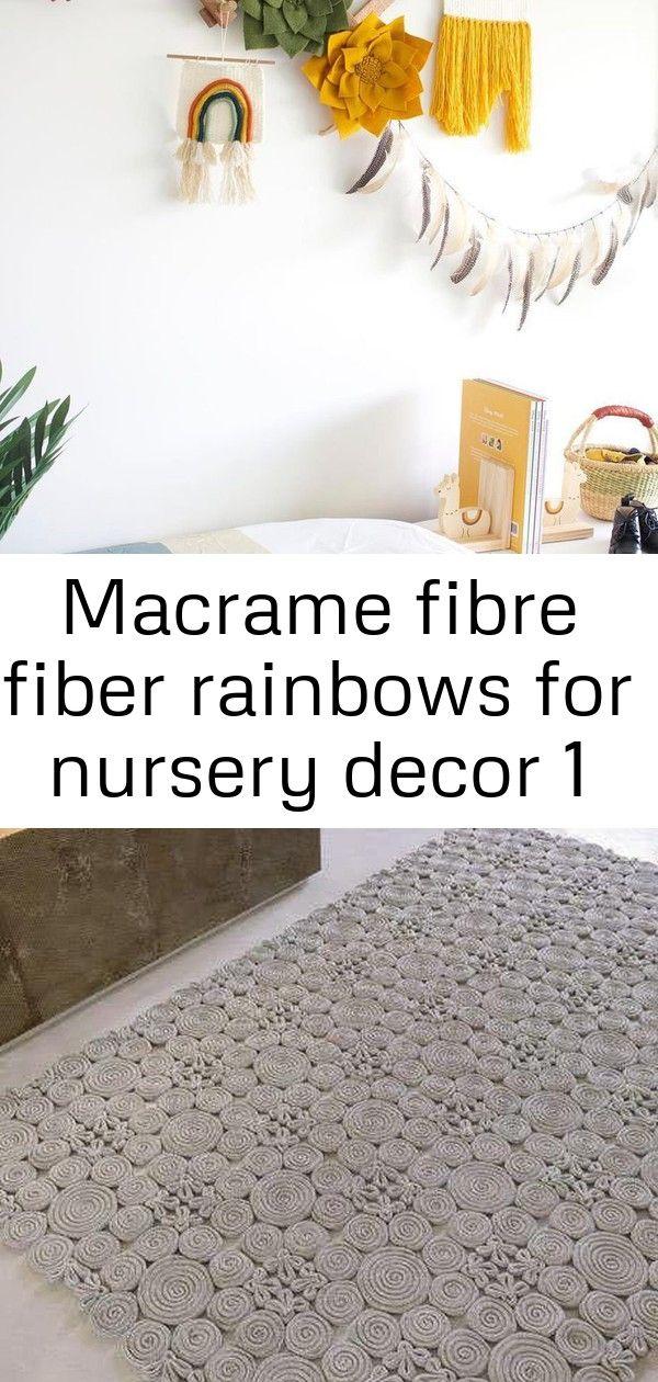 Macrame Fibre Fiber Rainbows For Nursery Decor Passage