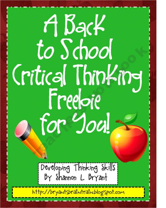 Thinking Skills   Problem Solving   Lessons   Tes Teach SlideShare Quick shop    Critical Thinking and Creative Responses