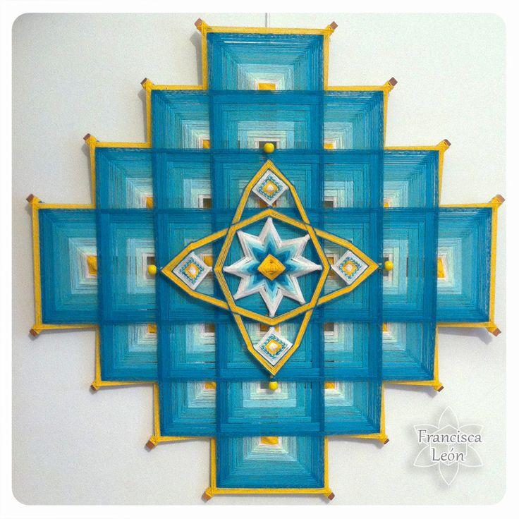 Mandala Tibetano y creación libre // Clases en Santiago de Chile ♥ Facebook: Mandalas Tejidos Francisca León ♥ Web: www. talleresdemandalas .cl ♥ correo: leon.francisca@ gmail. com ♥