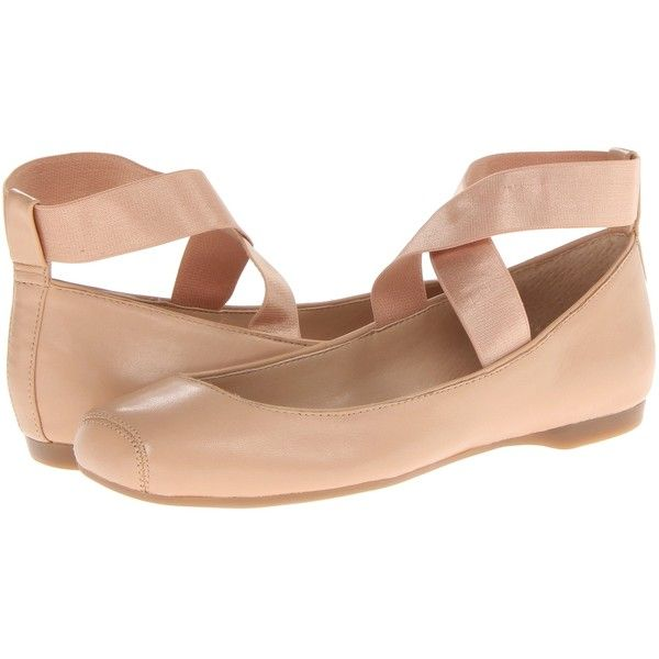 Jessica Simpson Mandalaye (Natural Sleek Leather) Women's Shoes (74 CAD) ❤ liked on Polyvore featuring shoes, flats, beige, ballet flat shoes, leather ballerina flats, flat shoes, beige ballet flats and strap ballet flats