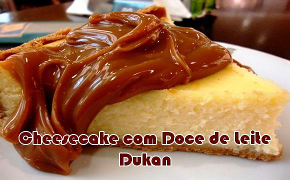 Cheesecake Dukan com Doce de Leite