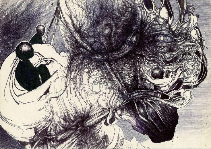 Artwork, Ballpoint pen, ink, Drawing, Ballpoint pen, ink 29,5x21cm 2004 - Image #624896, Poland