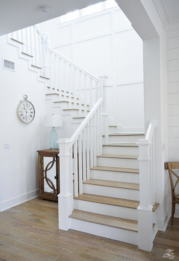 White Staircase With Grid Pattern Beach House Decor Beach House   Beach House Stair Railing   Coastal   Rustic   Unique   Indoor   Marine Rope