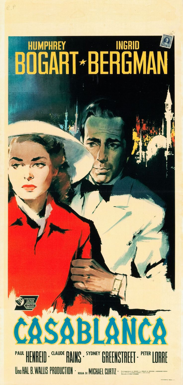186 best images about classic movie posters on pinterest john ford movies and lizabeth scott for Poster casablanca