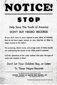 """Don't Buy Negro Records"" Flyer, ca. 1962.  Courtesy of Special Collections Howard-Tilton Memorial Library"