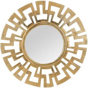 Cast Greek Key Mirror