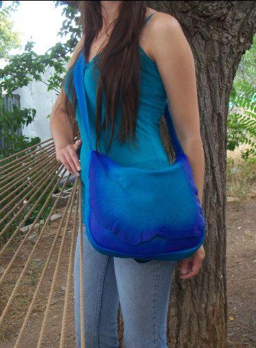 Designer Leder Handtasche gekräuselten natürliche Rand von dleather