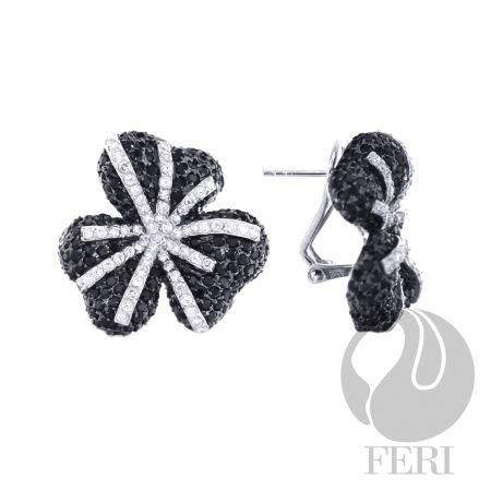 Black Orchid - Earrings $ 1,165.00