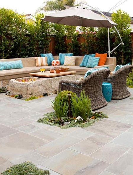 More home owners are looking at hardscapes as an alternative to high maintenance lawns and beds. Stone pavers and zero-maintenance cast concrete benches provide plenty of comfortable seating, while succulents and hardy creepers soften hard edges. http://www.easydiy.co.za/index.php/garden/466-elements-for-great-patio-design