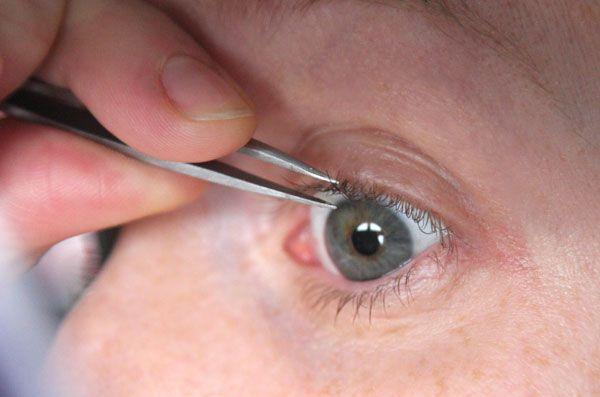 """Tweezing eyelashes... """"We need eyelashes to protect our ..."""