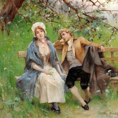 Пазл онлайн: В весеннем саду