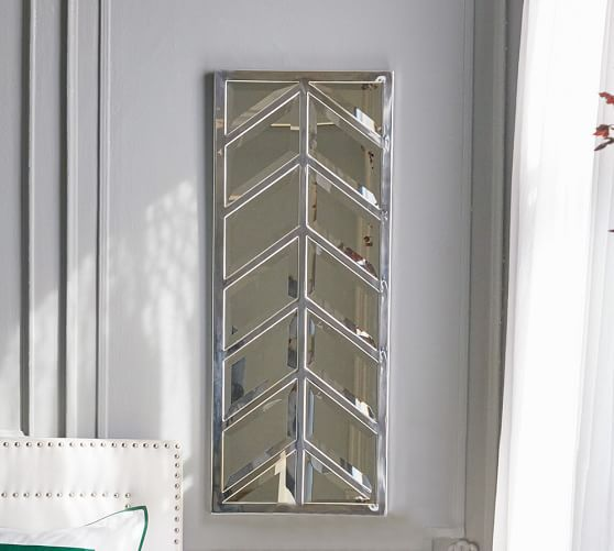 I feel like you need these somewhere in your house :)  Maxine Chevron Mirror | Pottery Barn