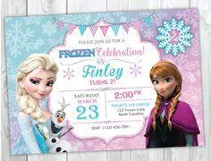 Frozen Birthday Invitation Printable, Frozen Invitation, Frozen Birthday Party Invites, Elsa and Anna Birthday, Olaf Birthday