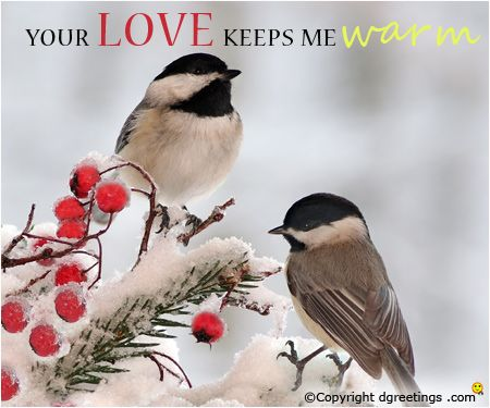 Wish your beloved Happy winter with this romantic card.