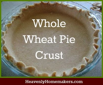 whole wheat pie crust - use Nutiva red palm shortening.  Good for pasties, too.