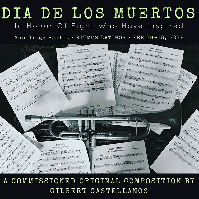 """THIS WEEKEND ONLY - THE PREMIERE OF MY NEW MUSIC AT THE SAN DIEGO BALLET'S RITMOS LATINOS SERIES! • #repost fr @arlenedamasco: GILBERT CASTELLANOS - BE THE FIRST TO HEAR THE MUSIC FOR HIS NEXT RECORDING PROJECT TO BE RELEASED THIS YEAR! """"My newest suite - Dia de Los Muertos - began as a spark two years ago when I was home in Guadalajara with my family for the holidays. I was very inspired there. It was totally unexpected, and it's been stirring inside me since then. I began reflecting more…"""