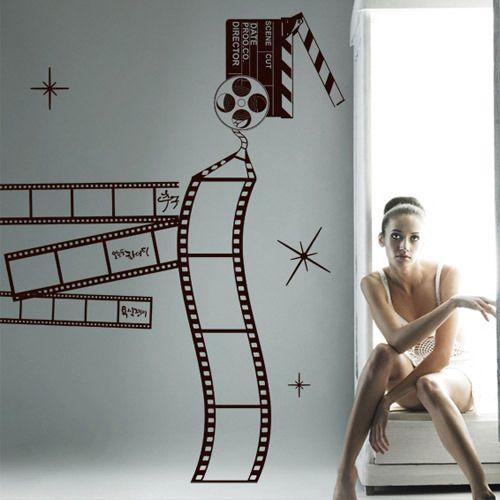 Amazing Hot Film Cinema Vinyl Wall Decal Studio Room Decor Film Photo Frame Mural Art Wall Sticker