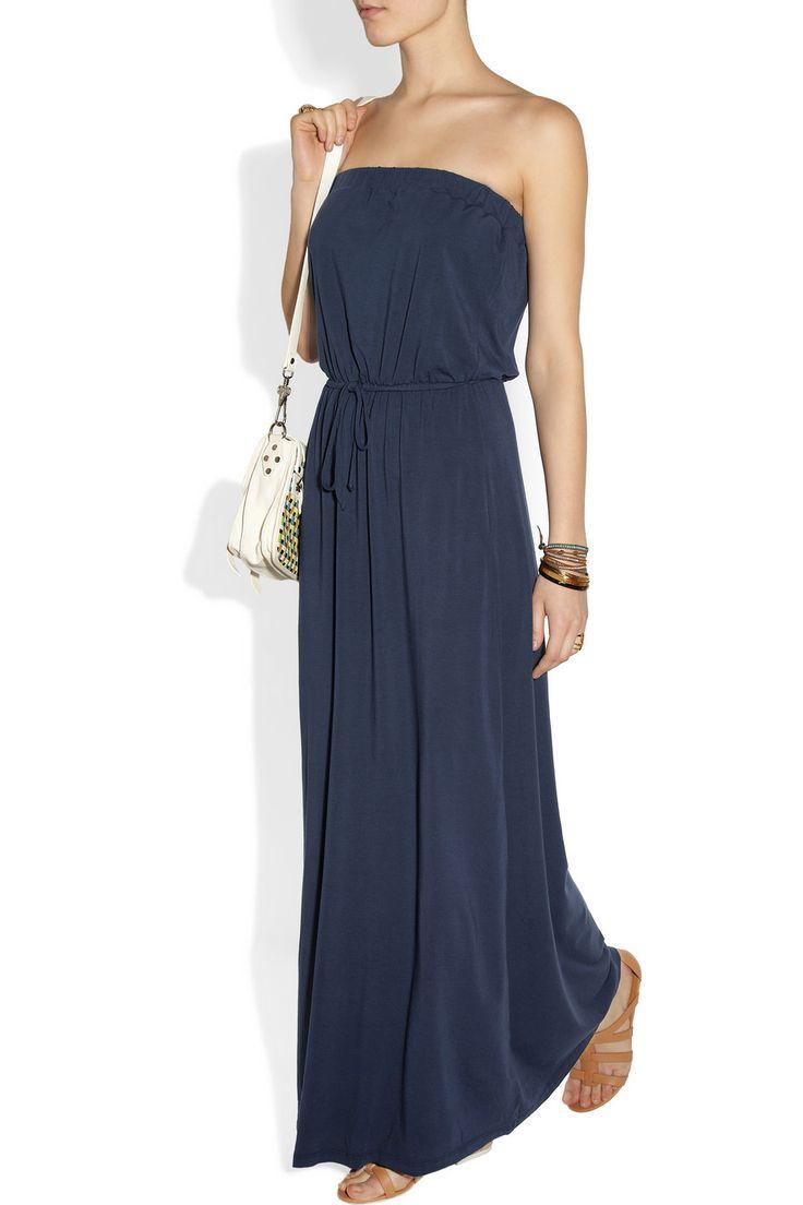 Splendid|Strapless stretch-jersey maxi dress|NET-A-PORTER.COM