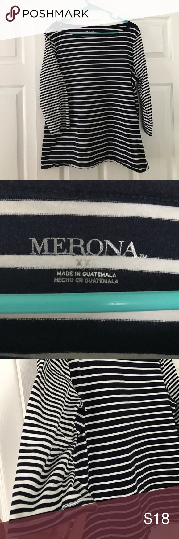 Merona Plus Size Nautical Top Fierce. Classy. Chic. This Merona Top is a gorgeous addition to any wardrobe. Like new condition. Merona Tops