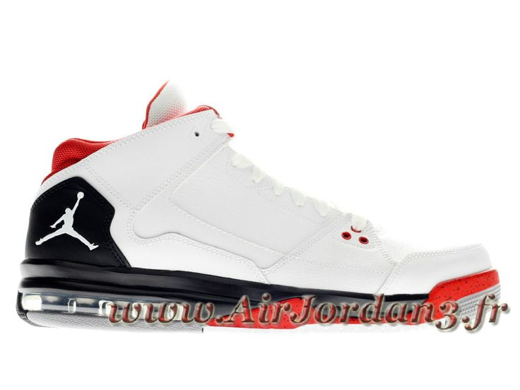 Jordan Flight Origin Chaussures Jordan Officiel Basket_Ball Pour Homme Blanc/Noir/Rouge 599593-101