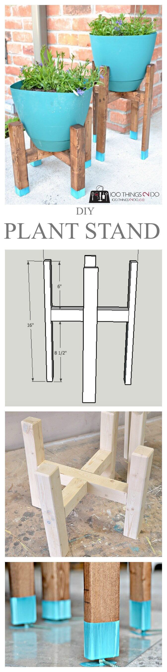 Do It Yourself Wooden Plant Stand  ~ Great pin! For Oahu architectural design visit http://ownerbuiltdesign.com