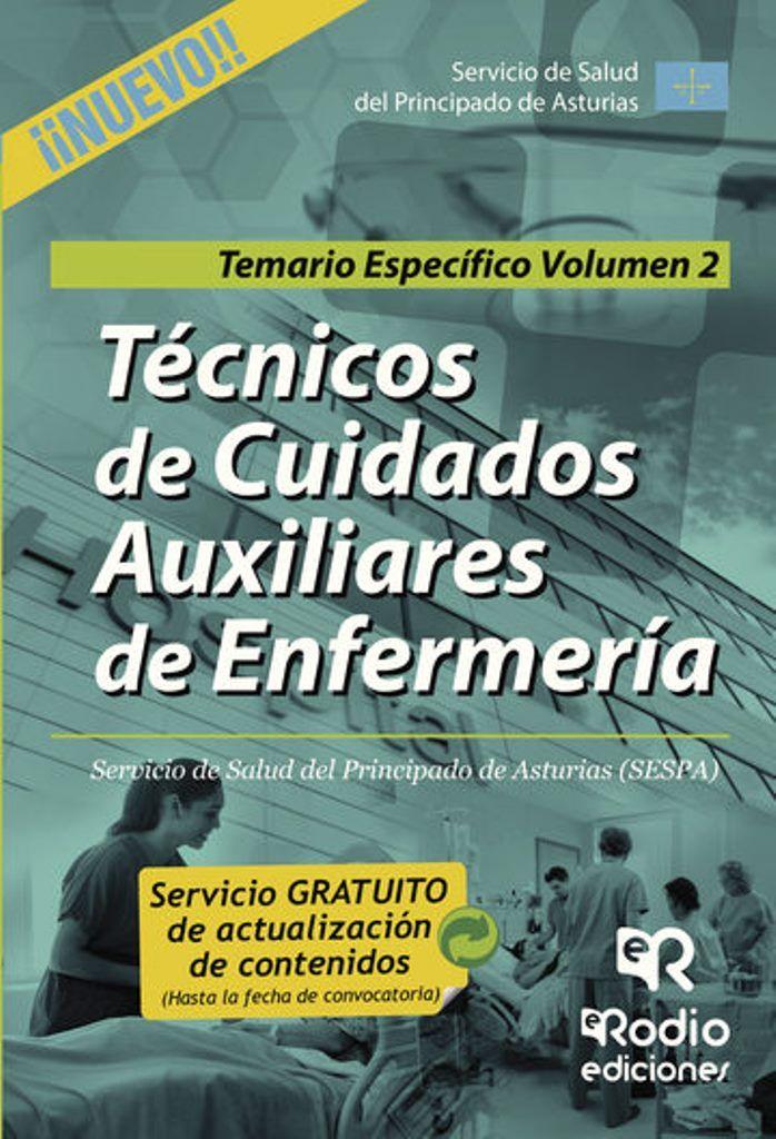 El presente manual comprende diecinueve temas, convenientemente desarrollados y actualizados, del Temario Específico para la preparación de las pruebas de acceso a la categoría de Técnico en Cuidados Auxiliares de Enfermería (TCAE) del Servicio de Salud del Principado de Asturias (SESPA). Haz clic en la imagen para ir al catálogo.