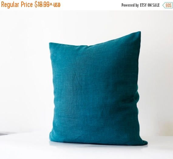 On sale 10% OFF Teal throw pillow cover  classic by pillowlink