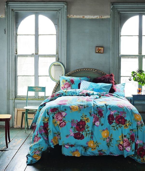 Beds Covers, Wall Colors, Turquoise Bedrooms, Bedspreads, Beds Spreads, Vintage Floral, Blue Bedrooms, Beds Sheet, Beds Sets