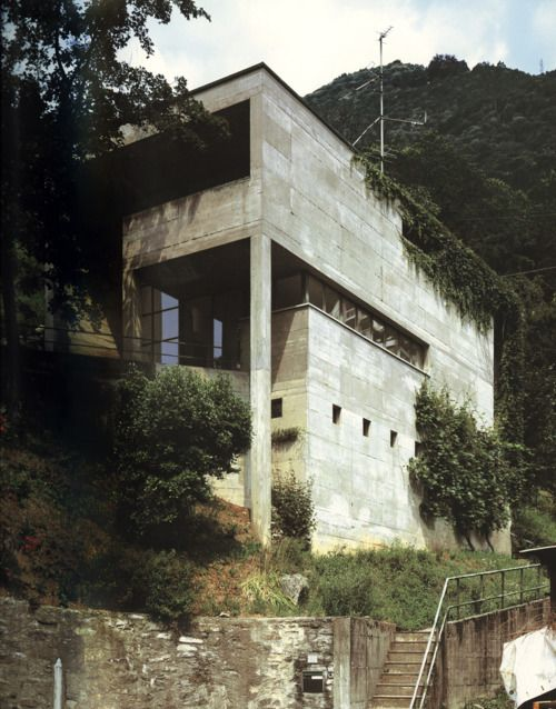 Luigi Snozzi - Casa Kalmann, Brione sopra Minusio 1976