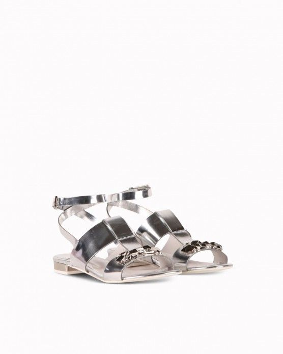 Sandals with gemstone appliqué Iceberg  #Iceberg #sandals #silver #metallics #gemstone #fashion #style #stylish #love #socialenvy #me #cute #photooftheday #beauty #beautiful #instagood #instafashion #pretty #girl #girls #styles #outfit #shopping