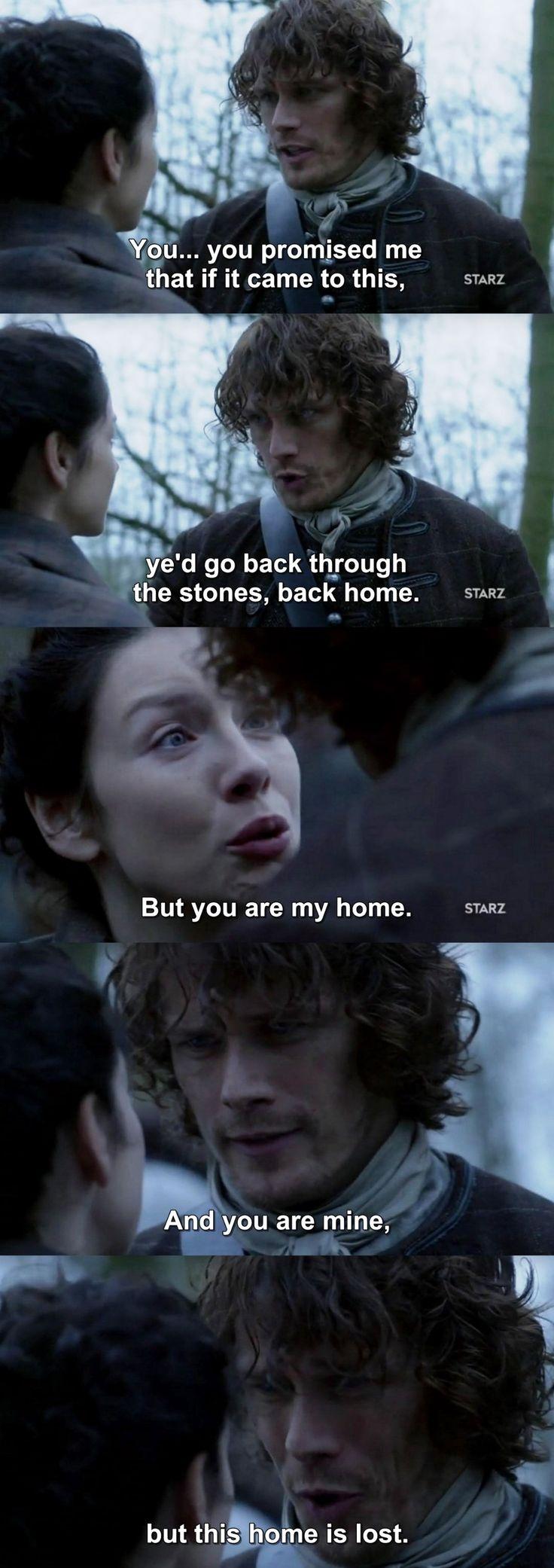Outlander Season 2 Finale. Jamie & Claire.