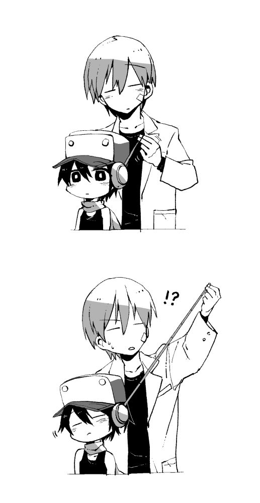 Quote and Kazuma   Cave Story