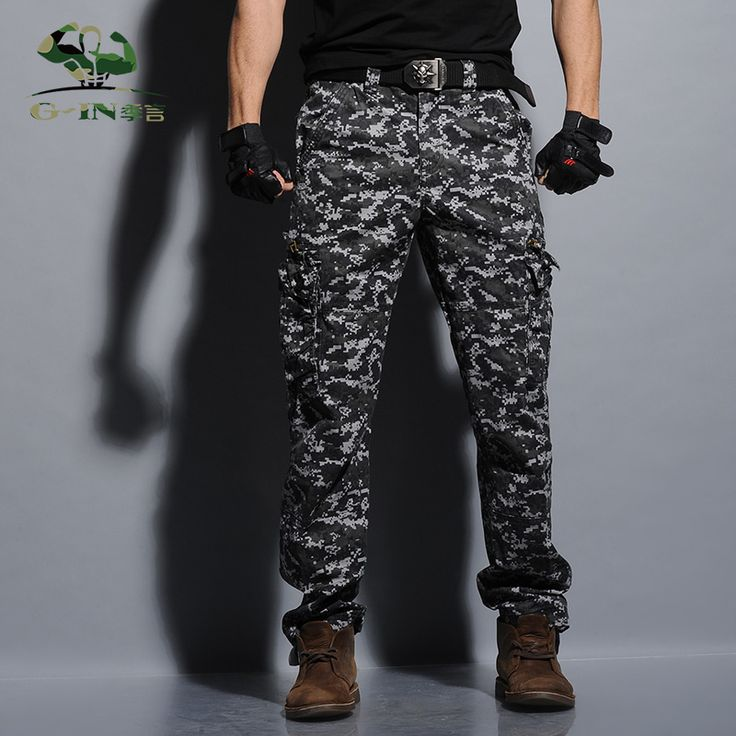 New 2015 Camouflage Cargo Pants Casual Loose Army Trousers Baggy Cargo Pants mens sweat Sweatpants Fashion Military Men Pants