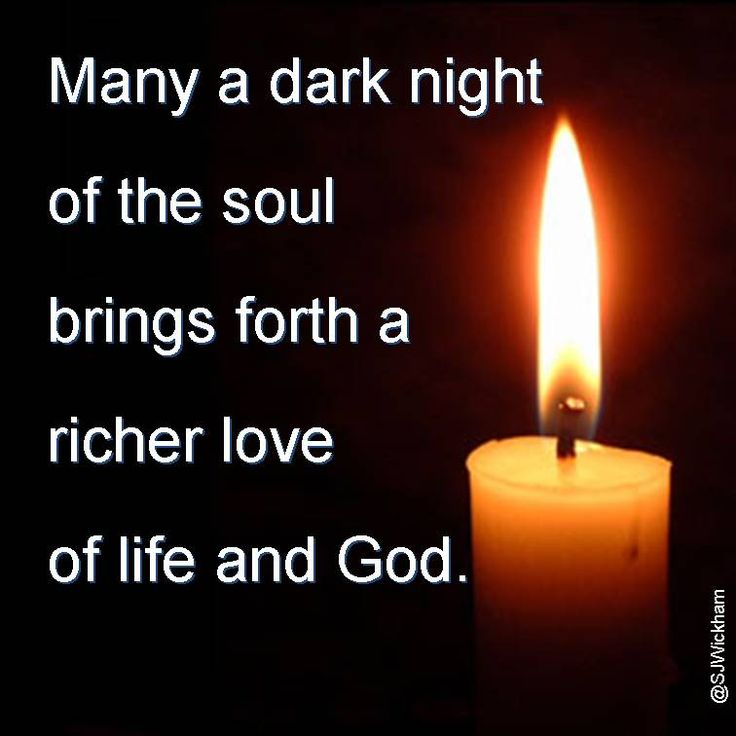 the dark night of the soul essay Perception of connection ~ revisiting the dark  perception of connection ~ revisiting the dark night of  dark night of the soul pushes you to.