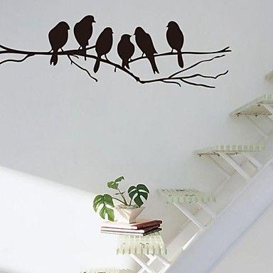 muurstickers+muur+stickers,+tak+en+vogels+pvc+muurstickers+–+EUR+€+4.89