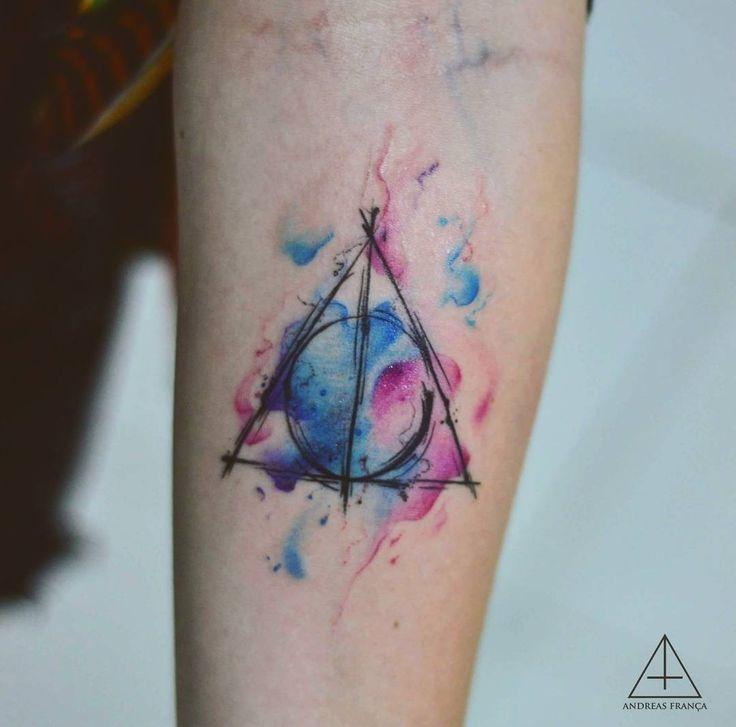 Pros fãs de Harry Potter arte do @andreasfranca O-O #Art #Artist #Inked #Tattoo #Tattooartist #Tattooed