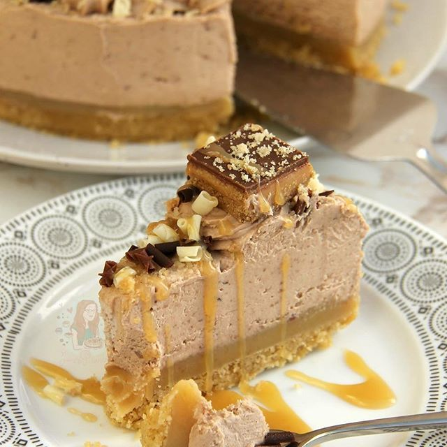 Millionaires Cheesecake!  Biscuit Layer Caramel Layer Chocolate Cheesecake andhellip