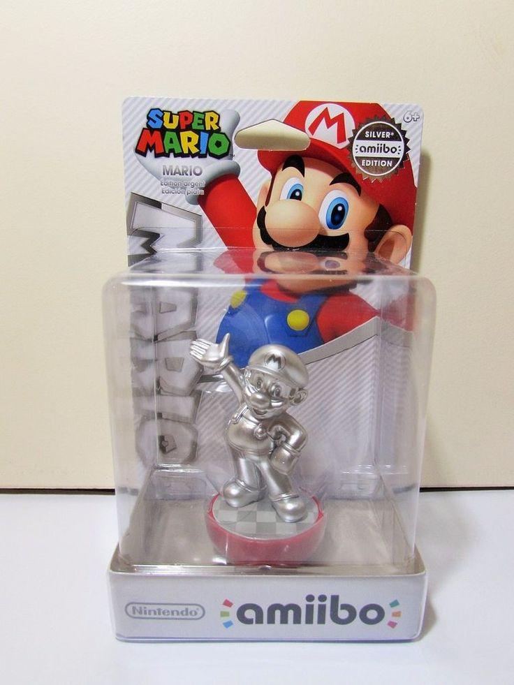 Nintendo Amiibo Super Mario Collection Mario Silver Edition Brand New Figure