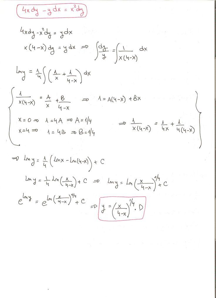 Solución del ejercicio 11 Ecuaciones diferenciales de variables separadas