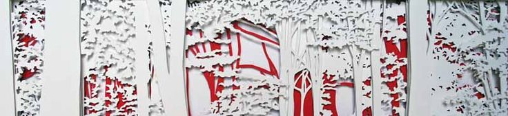 Junction Art Gallery - Kate Hipkiss 'Wytham Woods' layered papercut
