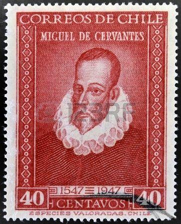 Un sello de Chile de Miguel de Cervantes