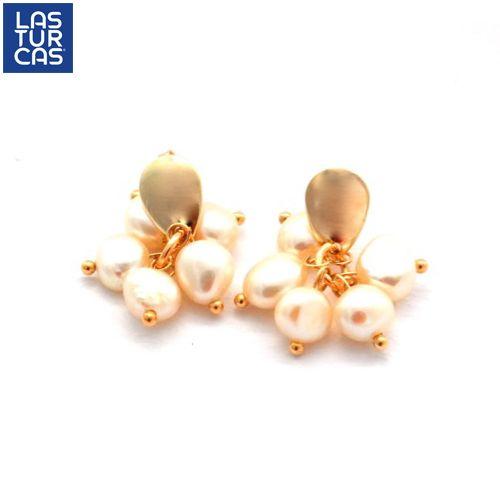 Aretes Perlas de Amor #HechoAmano con perlas naturales   #Accesorios #LasTurcas