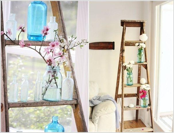 Creatief met een decoratieve ladder