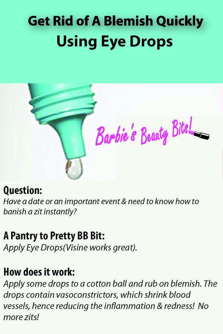 NO MORE BLEMISHES with these DIY pantry to pretty tips on getting rid of zits with honey, eye drops and MORE! #bblogger, #beauty, #DIY