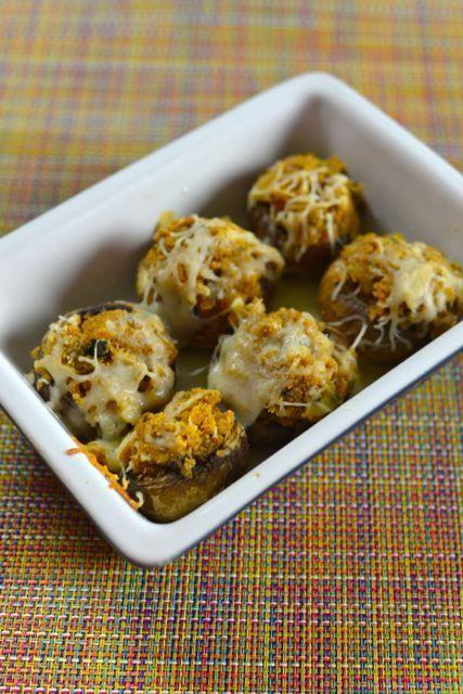 Copycat recipe of Olive Garden Stuffed Mushrooms - these are fantastic!