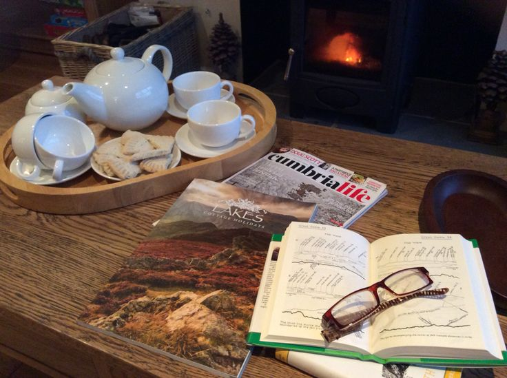 Relaxing Sunday afternoon in front of the #logburningstove #cosycottage #lakescottageholidays #lakedistrictcottage #cottageinthelakes