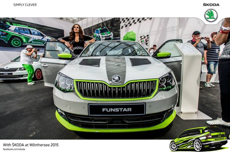 The fun vehicle concept, based on the new ŠKODA Fabia, is the result of ŠKODA's 'trainee car' project, which was run for the first time last year #SKODAWoerthersee #PickupFunstar