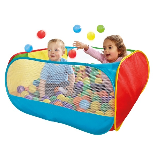Ball pit! I gotta get this in a few months, my daughter will love it!